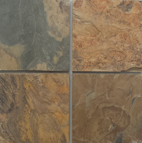 "California Gold Slate Flagstone - Random Sizes x 3/4"" - 1"" Natural Cleft Face & Back"