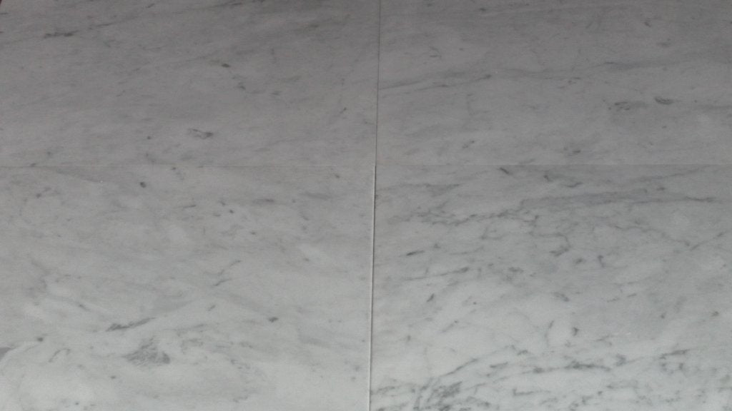 "Polished Carrara Venatino Marble Tile - 24"" x 24"" x 3/8"""