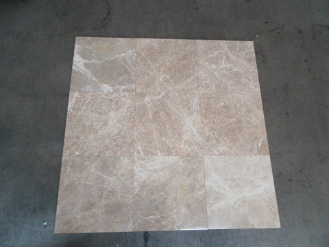 "Polished Cedar Marble Tile - 12"" x 12"" x 3/8"""