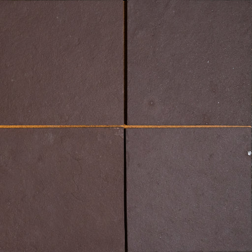 "Chocolate Burgundy Slate Tile - 12"" x 12"" x 3/8"" Natural Cleft Face, Gauged Back"