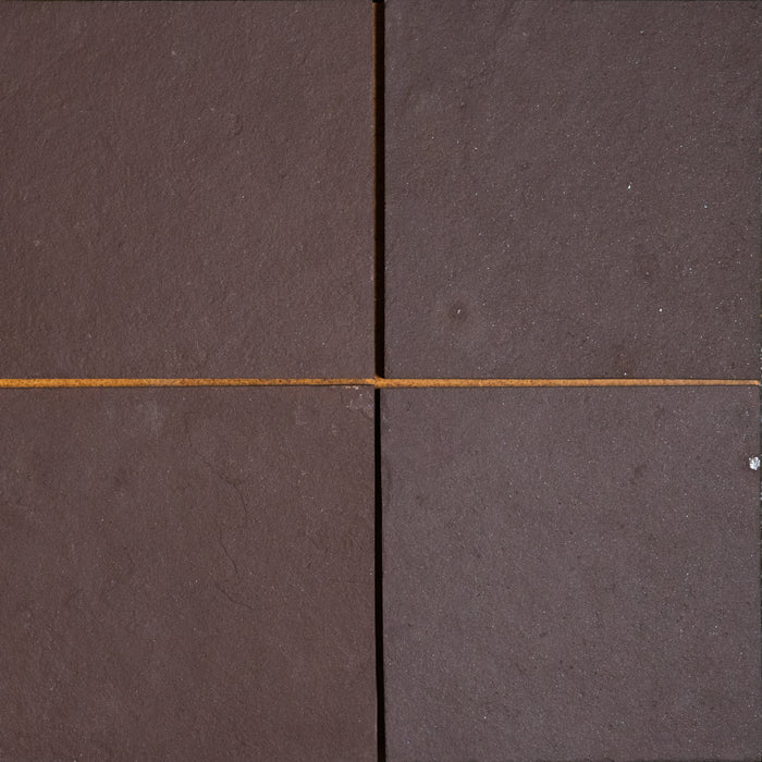 "Full Tile Sample - Chocolate Burgundy Slate Tile - 12"" x 12"" x 3/8"" Natural Cleft Face, Gauged Back"