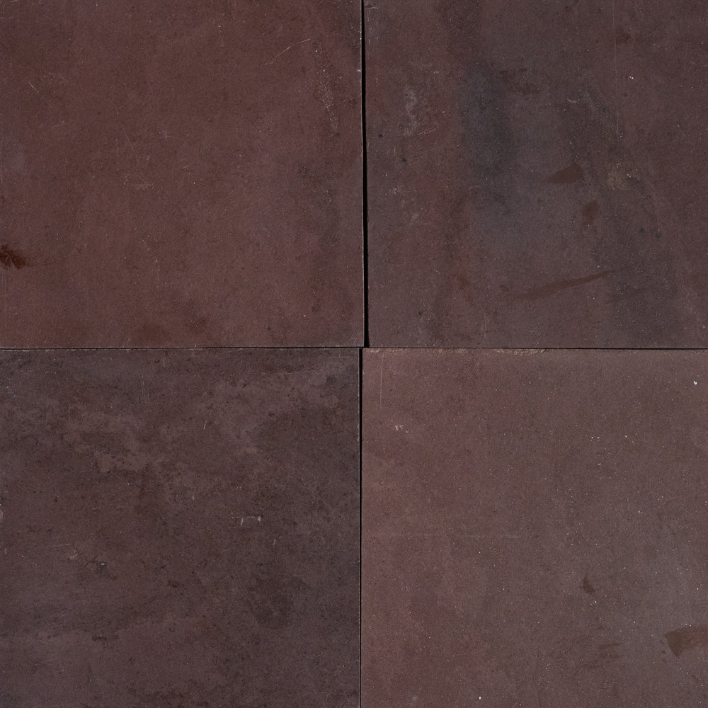 "Full Tile Sample - Chocolate Burgundy Slate Tile - 12"" x 12"" x 3/8"" Polished"