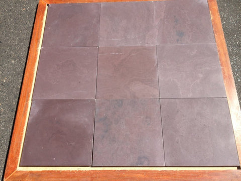"Chocolate Burgundy Slate Tile - 12"" x 12"" x 3/8"""