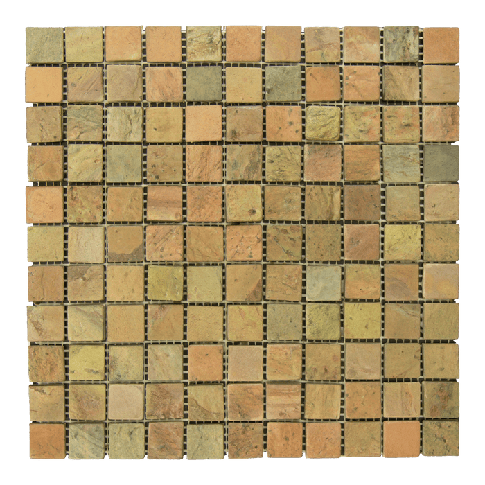 "Copper Slate Mosaic - 1"" x 1"" Tumbled"