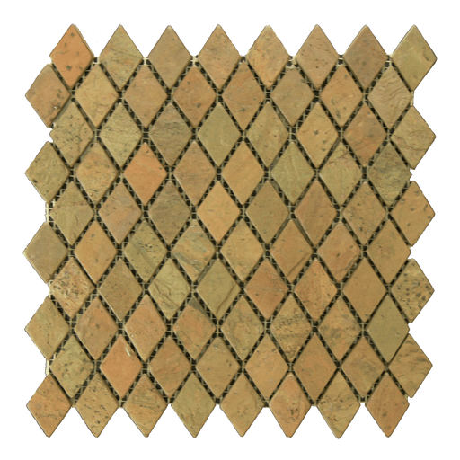 "Copper Slate Mosaic - 1"" x 2"" Diamond Tumbled"
