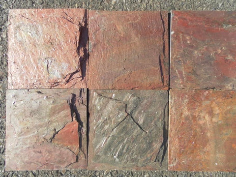 Chiseled Copper Slate Tile