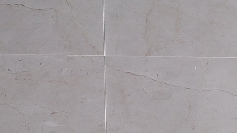 "Polished Crema Marfil Standard Marble Tile - 24"" x 24"" x 5/8"""
