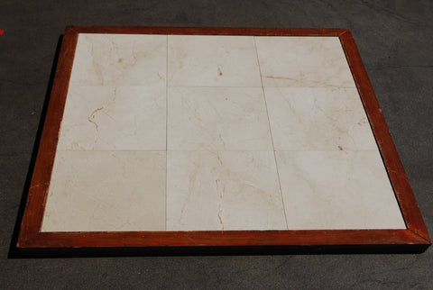 "Polished Crema Marfil Standard Marble Tile - 12"" x 12"" x 3/8"""