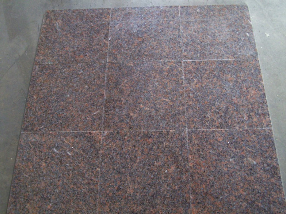 "Dakota Mahogany Granite Tile - 12"" x 12"" x 3/8"""