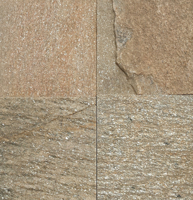 "Diamond G Slate Flagstone - Random Sizes x 1/2"" Natural Cleft Face & Back"