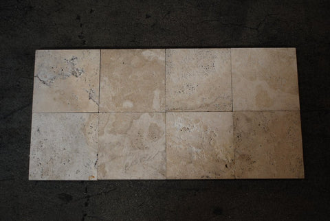 "Brushed Durango Travertine Tile - 6"" x 6"" x 1/2"""