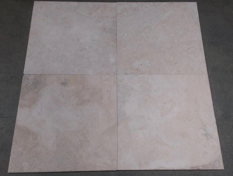 "Brushed Durango Travertine Tile - 18"" x 18"" x 3/8"""