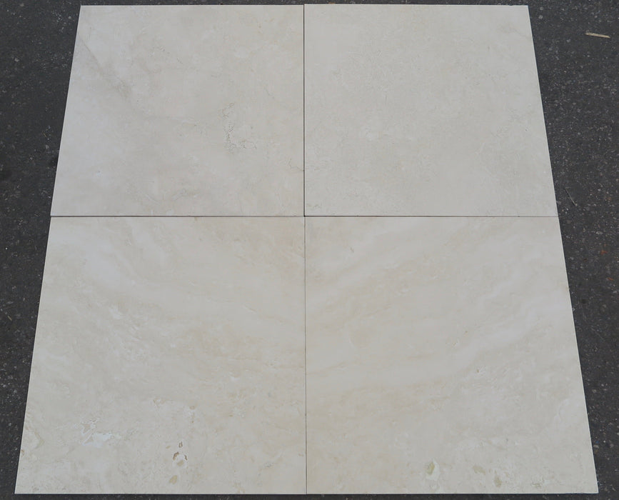 "Filled & Honed Durango Travertine Tile - 24"" x 24"" x 3/8"""