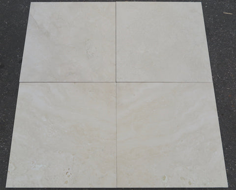 "Honed Durango Travertine Tile - 24"" x 24"" x 3/8"""