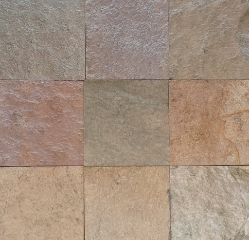 "Eldorado Slate Flagstone - Random Sizes x 3/4"" - 1"" Natural Cleft Face & Back"