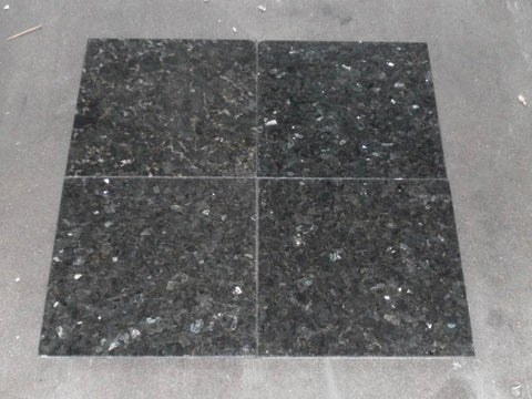 "Polished Emerald Pearl Granite Tile - 12"" x 12"" x 5/16"""