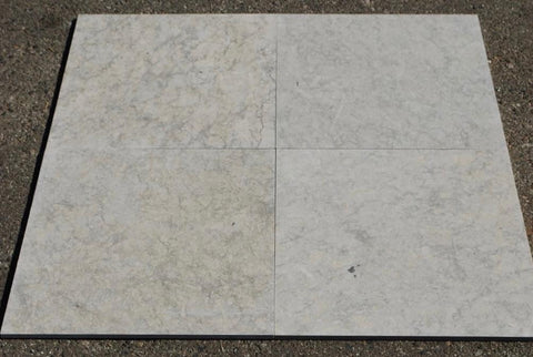 "Everest Grey Limestone Tile - 16"" x 16"" x 3/8"""