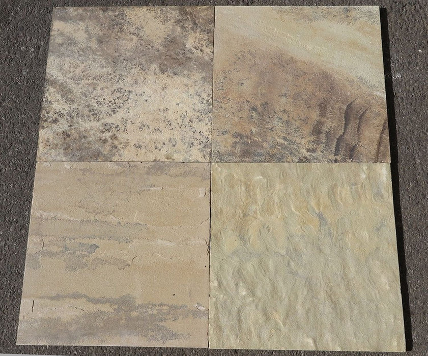 "Fossil Stone Sandstone Tile - 16"" x 16"" x 1/2"""
