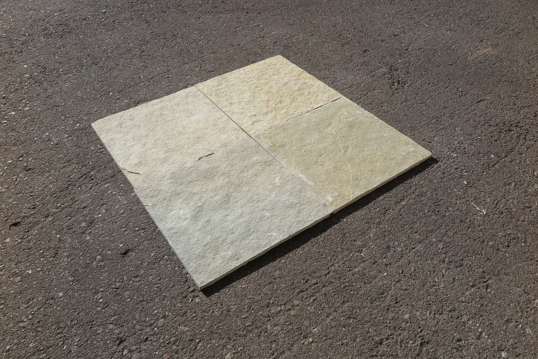 "French Vanilla Limestone Tile - 12"" x 12"" x 3/8"" - 1/2"""