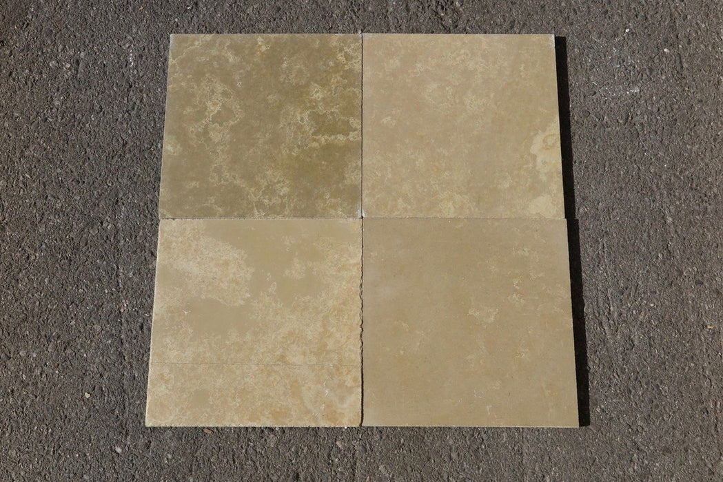 "French Vanilla Limestone Tile - 12"" x 12"" x 3/8"""