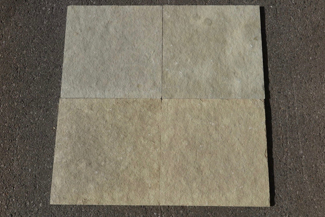 "French Vanilla Limestone Tile - 16"" x 16"" x 1/2"" - 5/8"""