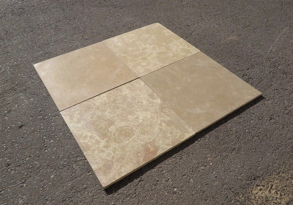 "Honed French Vanilla Limestone Tile - 16"" x 16"" x 3/8"" - 1/2"""