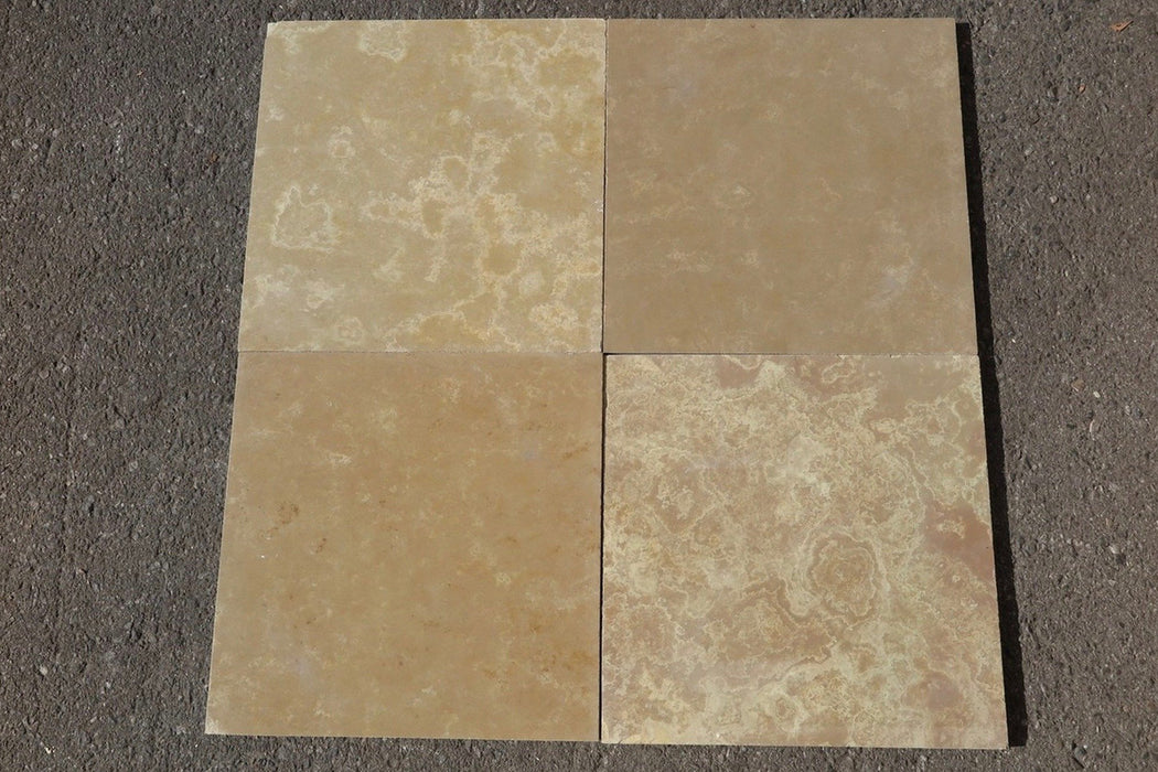 "French Vanilla Limestone Tile - 16"" x 16"" x 3/8"" - 1/2"""