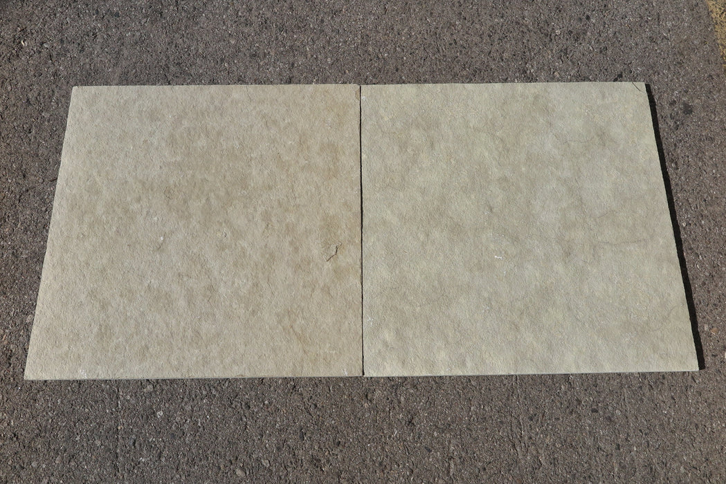 "French Vanilla Limestone Tile - 24"" x 24"" x 1/2"" - 5/8"""