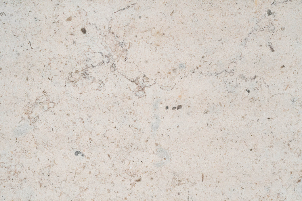 "Gascoigne Beige Commercial Limestone Tile - 18"" x 18"" x 1/2"" Honed"