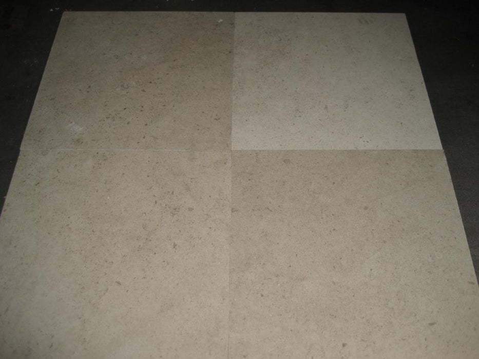 "Honed Gascoigne Beige Commercial Limestone Tile - 18"" x 18"" x 1/2"""