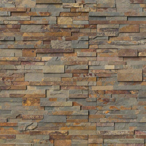 RockMount Stacked Stone Panel Gold Rush LPNLSGLDRUS624