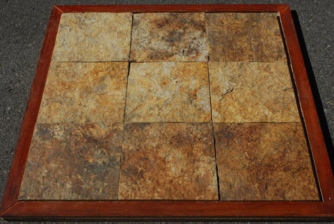 "Golden Beach Slate Tile - 12"" x 12"" x 3/8"" - 3/4"""