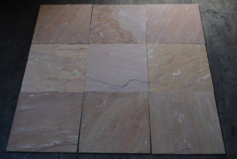"Golden Buff Sandstone Tile - 12"" x 12"" x 3/8"" - 1/2"""