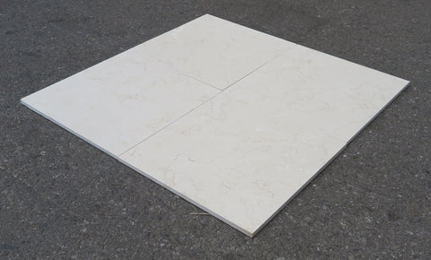 "Honed Golden Cream Limestone Tile - 12"" x 12"" x 3/8"""