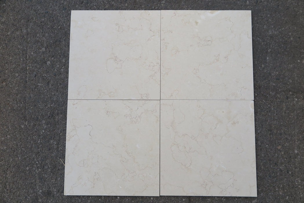"Golden Cream Limestone Tile - 12"" x 12"" x 3/8"""