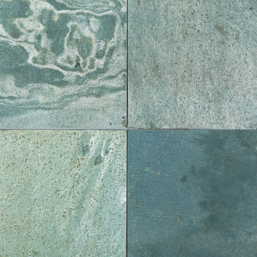 "Green Shine Slate Tile - 12"" x 12"" x 3/8"" - 1/2"" Polished"