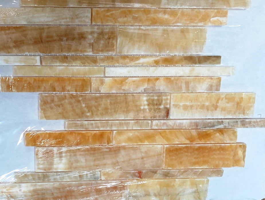 Honey Onyx Mosaic - Linear Polished