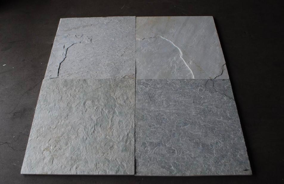 Natural Cleft Face & Back Ice White Slate Tile