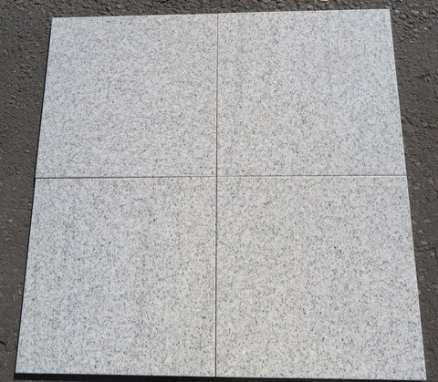 "Polished Imperial White Granite Tile - 18"" x 18"" x 1/2"""
