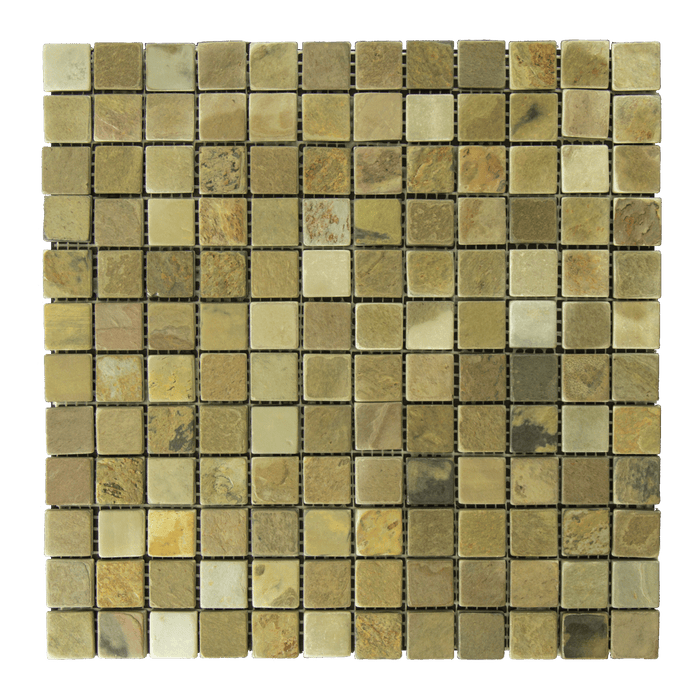 "Autumn Slate Mosaic - 1"" x 1"" Tumbled"