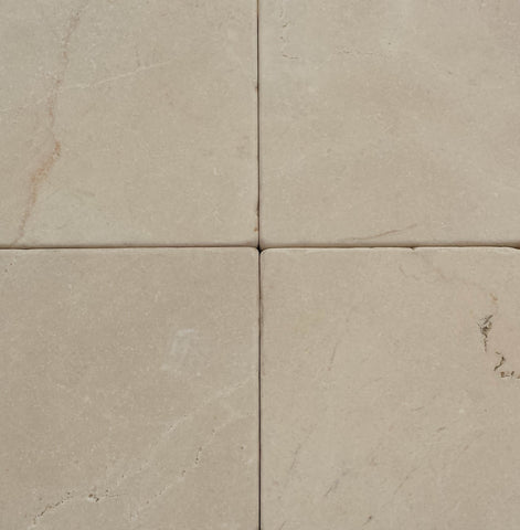"Ivory Cream Marble Tile - 4"" x 4"" x 1/2"" Tumbled"