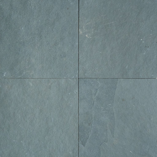 "Jade Green Slate Tile - 16"" x 16"" x 3/8"" Natural Cleft Face, Gauged Back"