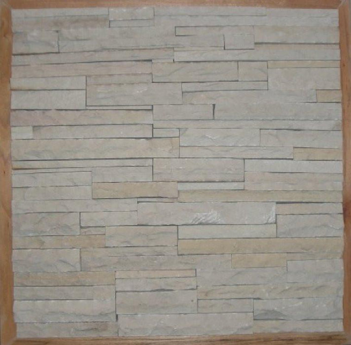 Natural Cleft Face & Back Jade White Sandstone Ledgestone