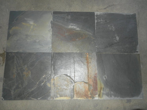 Natural Cleft Face, Gauged Back Jak Slate Tile