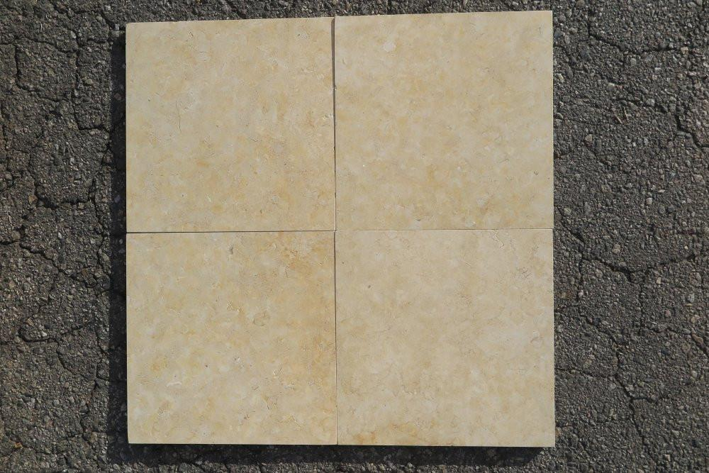 "Honed Jerusalem Gold Limestone Tile - 12"" x 12"" x 3/8"""
