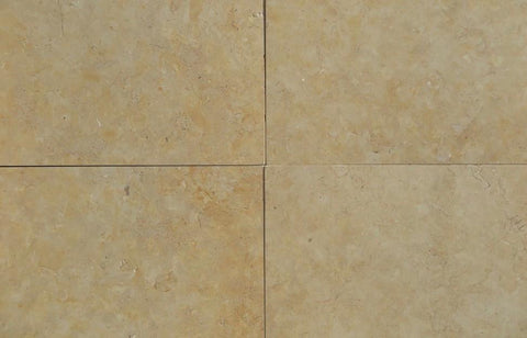 "Jerusalem Gold Limestone Tile - 24"" x 24"" x 3/8"" - 3/4"" Honed"