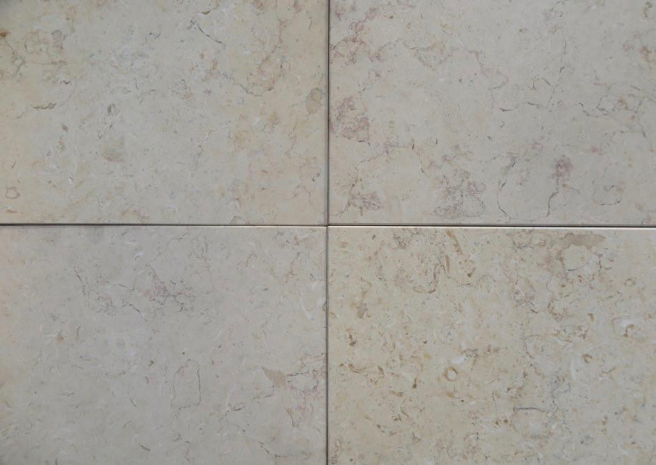 "Jerusalem Gold Light Limestone Tile - 12"" x 12"" x 3/8"" Honed"