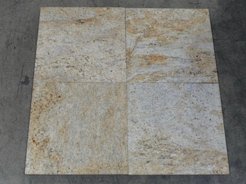 "Polished Kashmir Gold Granite Tile - 12"" x 12"" x 3/8"""