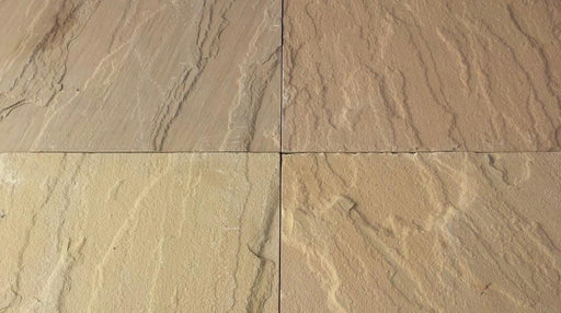 "Kokomo Gold Sandstone Flagstone - Random Sizes x 1"" Natural Cleft Face & Back"