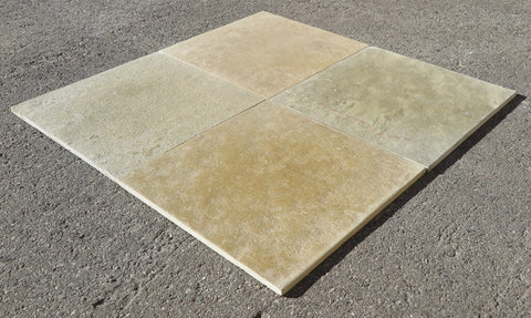 "Kota Brown Limestone Tile - 18"" x 18"" x 5/8"""